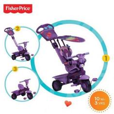 Tricicleta copii 3 in 1 Fisher-Price Royal Violet
