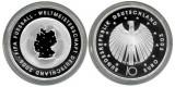 Germania moneda argint 10 euro 2003 - CM Fotbal - UNC in capsula, Europa