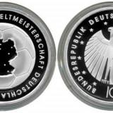 Germania moneda argint 10 euro 2003 - CM Fotbal - UNC in capsula