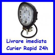 Proiector LED 12V - 24V Lucru Santier  OFFRoad ROTUND lumina SPOT 27W F17-2