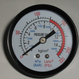 MANOMETRU pentru aer 12.5 bari, CEAS de PRESIUNE din metal ideal pt COMPRESOR