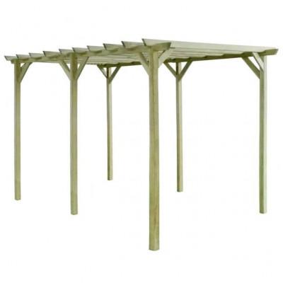 Pergolă de grădină, 4 x 2 x 2 m, lemn de pin tratat foto