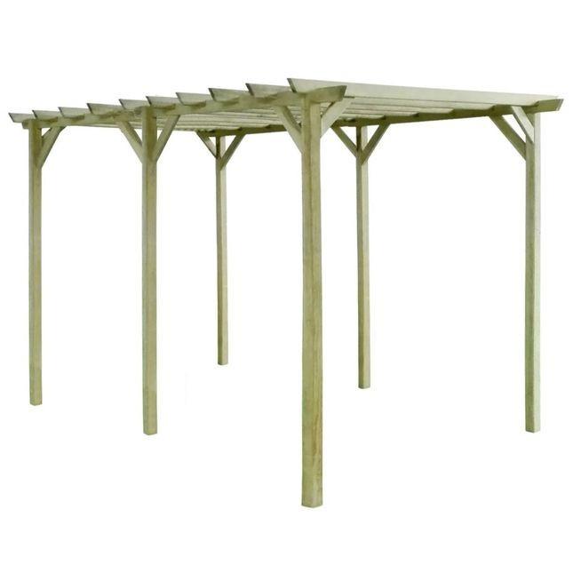 Pergolă de grădină, 4 x 2 x 2 m, lemn de pin tratat foto mare