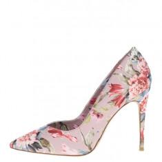 Pantofi stiletto roz pal ALDO Aleani imprimeu cu flori