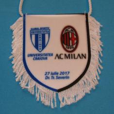 Fanion fotbal UNIVERSITATEA CRAIOVA - AC MILAN 27.07.2017