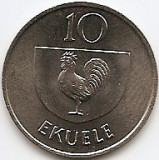 Guineea Ecuatoriala 10 Ekuele 1975 - Cupru-Nichel, KM-34 UNC !!!, Asia
