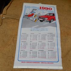 Calendar 1990, Militia Judetului Hunedoara.