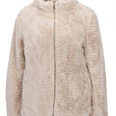 Jacheta bej din blana artificiala cu fermoar Dorothy Perkins - haina de blana