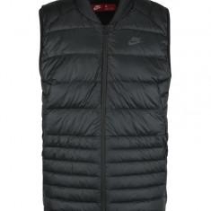 Vesta neagra matlasata pentru barbati Nike Sportswear Fill - Vesta barbati