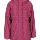 Jacheta impermeabila visinie, lunga, cu gluga si imprimeu de cercuri roz Brakeburn - Jacheta barbati