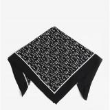Esarfa neagra cu print - Pieces Mia - Esarfa, Sal Dama