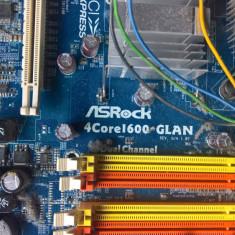 Placa de baza Asrock 4core 1600 + Intel core2duo e6400