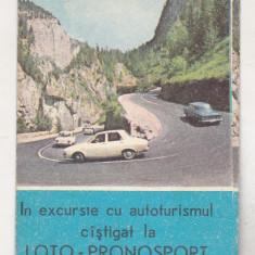 bnk cld Calendar de buzunar 1974 - Loto Pronosport