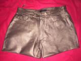 Pantaloni scurti  din piele naturala ,Estele ,38, Bronz