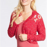 Bolero rosu cu print floral Blutsgeschwister - Bluza dama