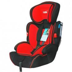Scaun auto pentru copil ajustabil U-Grow BXS-208GR, 9-36 Kg, Negru/Rosu, 1-2-3 (9-36 kg), In sensul directiei de mers, Isofix