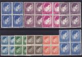 ROMANIA 1947  LP 212  MIHAI FORMAT MARE SI MIC BLOCURI  DE 4  TIMBRE   MNH, Nestampilat