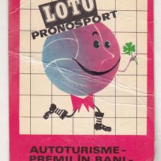 bnk cld Calendar de buzunar 1971 - Loto Pronosport