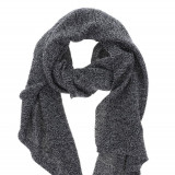 Esarfa tricotata alb negru Pieces Billi - Esarfa, Sal Dama