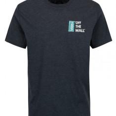 Tricou bleumarin melanj cu logo pentru barbati VANS Off the Wall