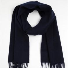 Esarfa bleumarin din lana cu ciucuri pentru barbati - Lindbergh