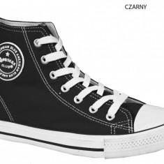 Adidas tineresc, tip bascheti, bleumarin-alb cu talpa flexibila (Culoare: BLEUMARIN-ALB, Marime: 39) - Adidasi dama, Marime: 37
