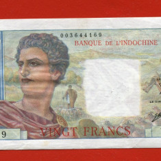 Tahiti 20 francs XF (1951 - 1963), An: 1928
