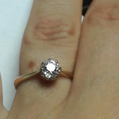 Inel vechi din aur de 18k cu diamant 0.45 ct solitare logodna