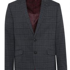 Sacou gri cu model in carouri Burton Menswear London - Sacou barbati