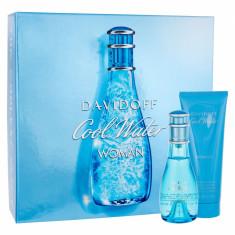 Apa de toaleta Davidoff Cool Water Dama 50ML Edt 50ml + 75ml Lotiune de corp - Parfum femeie