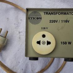 TRANSFORMATOR DE 110 V /150W FABRICAT DE ETICOM . FUNCTIONEAZA .