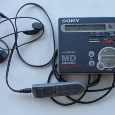 Minidisc Sony MZ-R70 cu casti si telecomanda pe fir