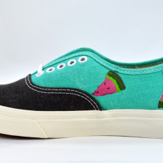 Adidasi Vans Authentic Slim ORIGINALI custom handmade masura 36 Unicat - Tenisi dama Vans, Culoare: Din imagine, Textil