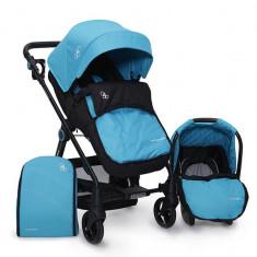 Carucior copii transformabil Cangaroo Hammer Blue - Carucior copii 3 in 1
