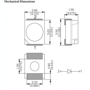 LED SMD PLCC-2 1210 3528 Mov EPISTAR