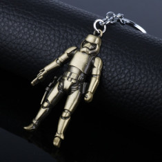 Breloc  tematica  film Star wars Stormtropper metalic + ambalaj cadou