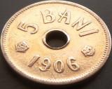 Moneda istorica 5 BANI - ROMANIA, anul 1906   *cod 3756