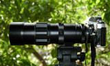 Obiectiv Soligor Auto-Zoom 1:4.5 f=75mm-260mm si aparatul Minolta XG 7