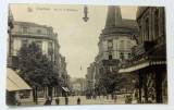 Carte postala veche interbelica Charleroi strada Montagne, Germania, Circulata, Fotografie