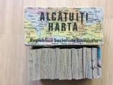 Alcatuiti harta administrativa RSR perioada comunista joc de colectie tip puzzle