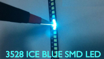 LED SMD PLCC-2 1210 3528 Turcoaz ICE BLUE EPISTAR foto