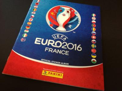 Album Panini Euro 2016 Franta, versiunea Germania, completat partial foto