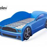 Pat masina Light-MG Albastru - Set mobila copii