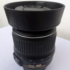 Obiectiv 18-55mm, capace, 2 filtre, parasolar, starfe impecabila - Obiectiv DSLR Nikon