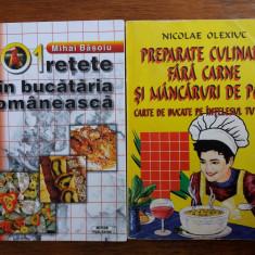 Lot 2 carti cu retete romanesti- Basoiu, Olexiuc  / R3F