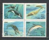 U.R.S.S.1990 Fauna marina  bloc 4  CU.1660