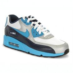 Adidasi Copii Nike Air Max 90 GS 307793155, 38, 38.5, Alb
