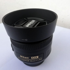 Obiectiv foto Nikon 35 mm, f/1.8, stare perfecta - Obiectiv DSLR