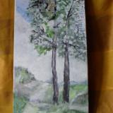 Drumul spre casa 1-pictura ulei pe placaj;Macedon Luiza, Natura, Altul