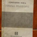 Jurnal filozofic de  Constantin  Noica, Constantin Noica